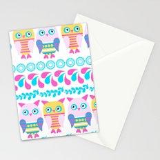 Owls pattern 6ew Stationery Cards