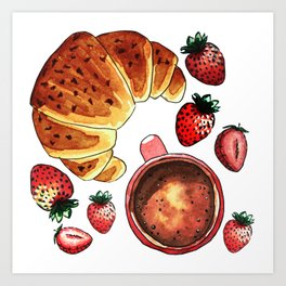 Breakfast, maybe! Art Print