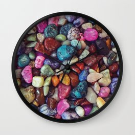 Colorful Rock Wall Clock