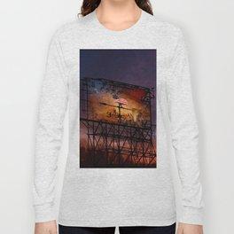 Trump Billboard Outside Blue Wave City .5 Long Sleeve T-shirt