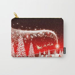 Santa Beautiful Christmas Carry-All Pouch