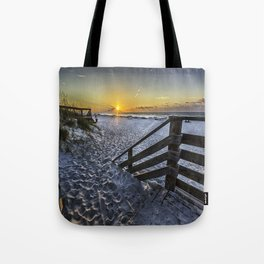 Sand Covered Steps Tote Bag