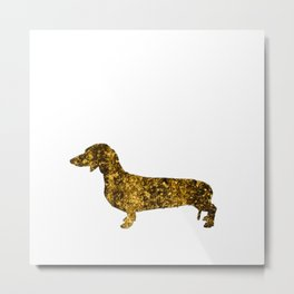I LOVE my Dachshund II - Luxury glitter dog design Metal Print