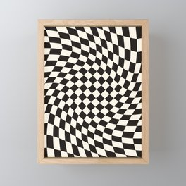 Black&White Checker Framed Mini Art Print