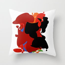 Red Black Forest Colorful Abstraction Digital Art - RegiaArt Throw Pillow
