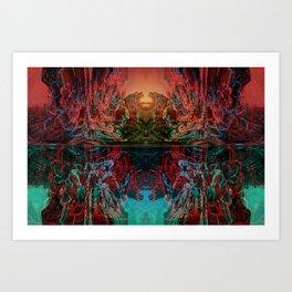 The Lake of Pure Mind Art Print