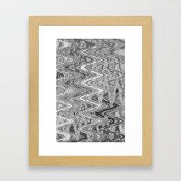 Waves Ash Framed Art Print