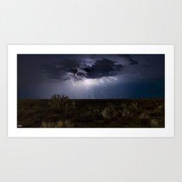 Mesa Lightning, N.M. Art Print
