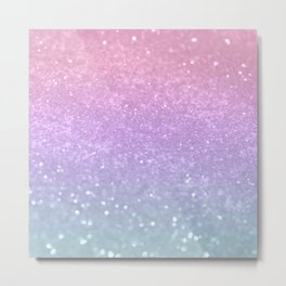 Unicorn Princess Glitter #1 (Photography) #pastel #decor #art #society6 Metal Print