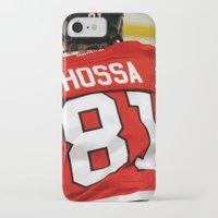 blackhawks iPhone & iPod Cases featuring marian hossa // chicago blackhawks by Hattie Trott