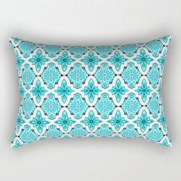 Turquoise Moroccan tile Rectangular Pillow