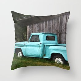 To Be Country - Vintage Truck Art Throw Pillow