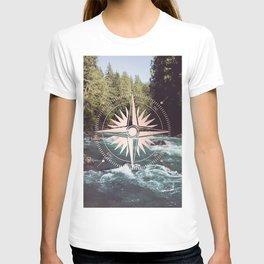 Rose Gold River Compass T-shirt