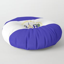 El Salvador flag emblem Floor Pillow