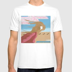 In The Wind MEDIUM Mens Fitted Tee White