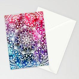 Namaste Red Purple Blue Mandala Stationery Cards
