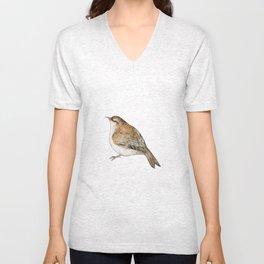 Tree Creeper Bird Illustration Unisex V-Neck