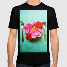 You Are What You Eat - Aqua Mens Fitted Tee MEDIUM Black
