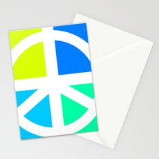Peace Symbol Abstract Stationery Cards