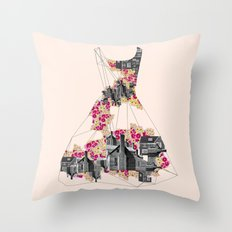 FILLED WITH CITY II Throw Pillow