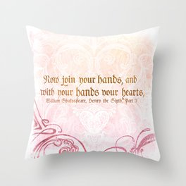 Join your Hands Throw Pillow