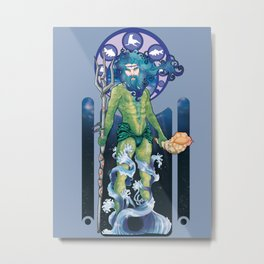 Ulmo Art Nouveau Metal Print