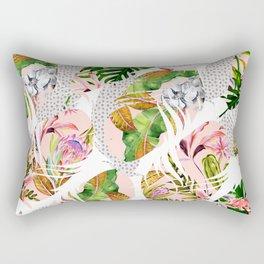 Tropical feathers Rectangular Pillow