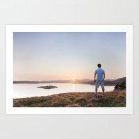 Last Light on the Loch Art Print