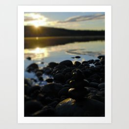 Sunshine and Stones Art Print