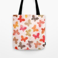 karu kara Tote Bags featuring BUTTERFLY SEASON by Daisy Beatrice