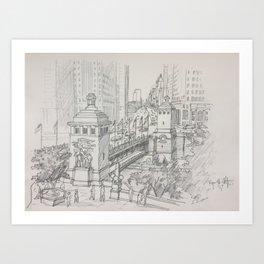 Chicago - Michigan Avenue Bridge Art Print