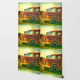 Old Rusty Bedford Truck Wallpaper