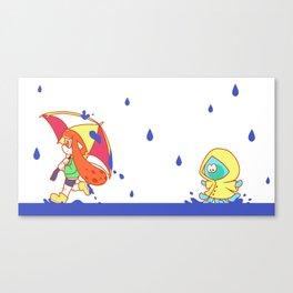 Raining Ink Canvas Print