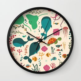 Sea creatures 003 Wall Clock