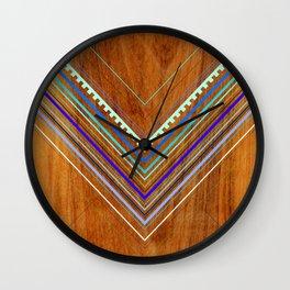 Aztec Arbutus Blue Wall Clock