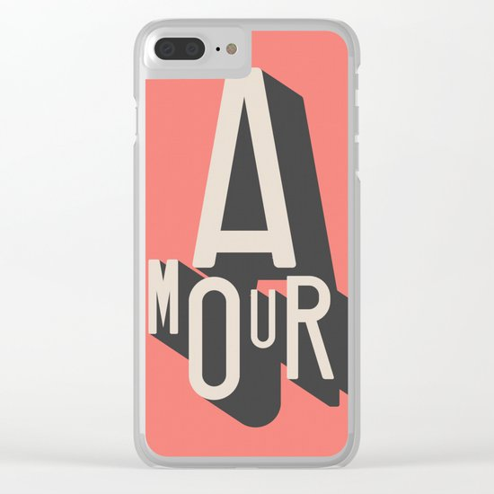 Amour Clear iPhone Case