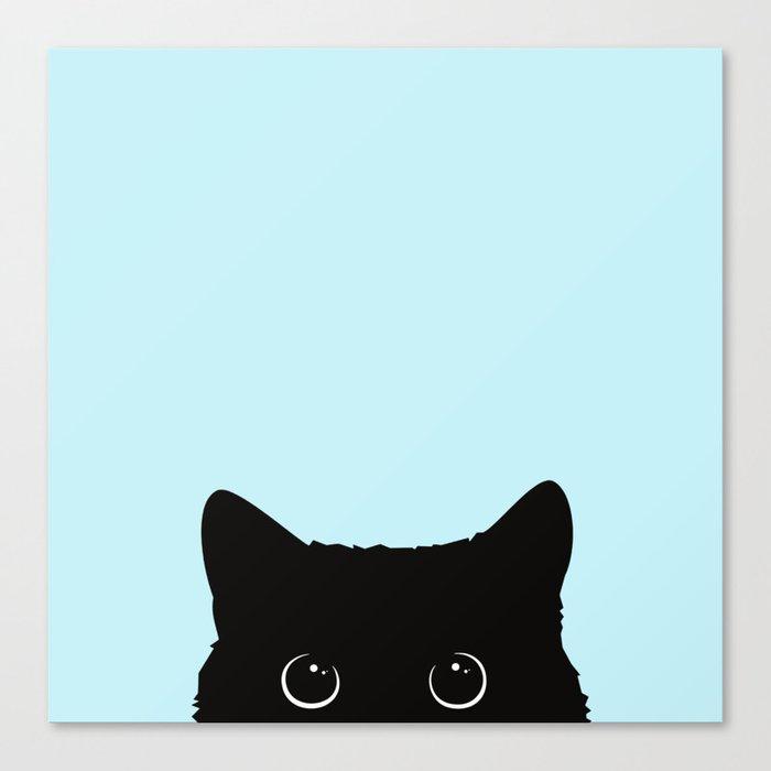 Black cat I Leinwanddruck