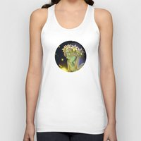 fireflies Tank Tops featuring Dryad and Fireflies by Naineuh