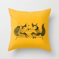 FOXY LADIES Throw Pillow