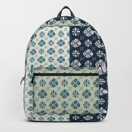 Vintage Tiles #society6 #pattern #indigo Backpack