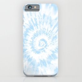 Lighter Ocean Blue Tie Dye iPhone Case