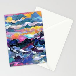 Montain Sunrise Stationery Cards