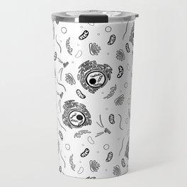 Cell Organelles - Black and White Travel Mug