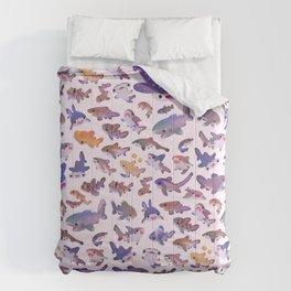 Shark day2 - bright Comforters