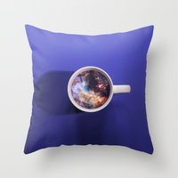 witchoria Throw Pillows featuring Dark Energy  by witchoria