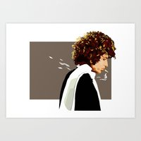 dylan Art Prints featuring dylan by hille