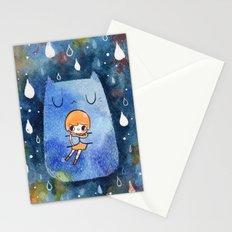 cat hug Stationery Cards