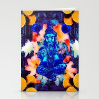 ganesh Stationery Cards featuring ganesh by CandiCollage