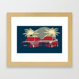 Bmw e30 & e36 Framed Art Print