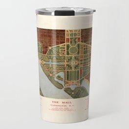 The Mall, Washington D.C. Map (1915) Travel Mug